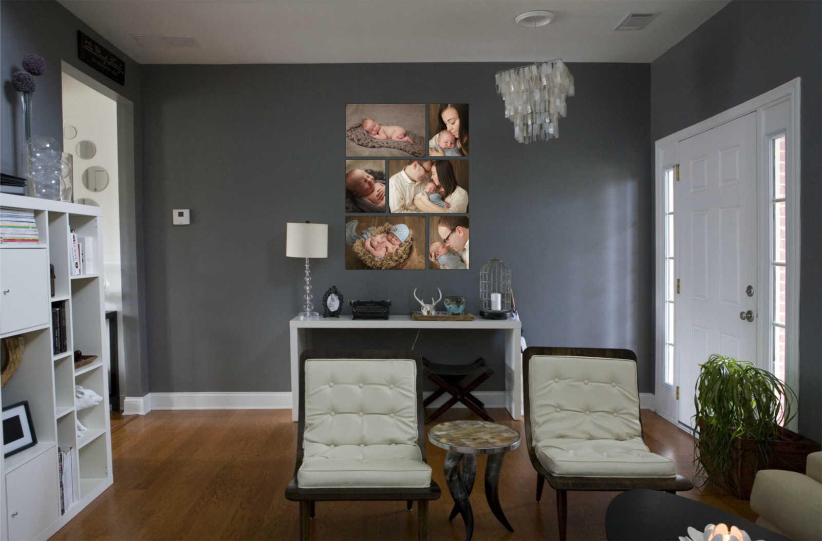 canvas prints wall grouping clusters by professional newborn baby infant photographer in the Hudson Valley NY