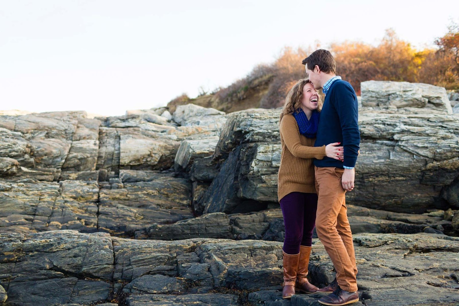 Cape Elizabeth Engagement Session Fort Williams  Park Fall Image