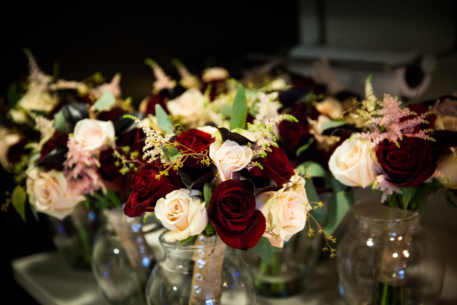 Florals by Carl Alan Floral Design for wedding reception at Vie  photo by Greg Davenport Photography