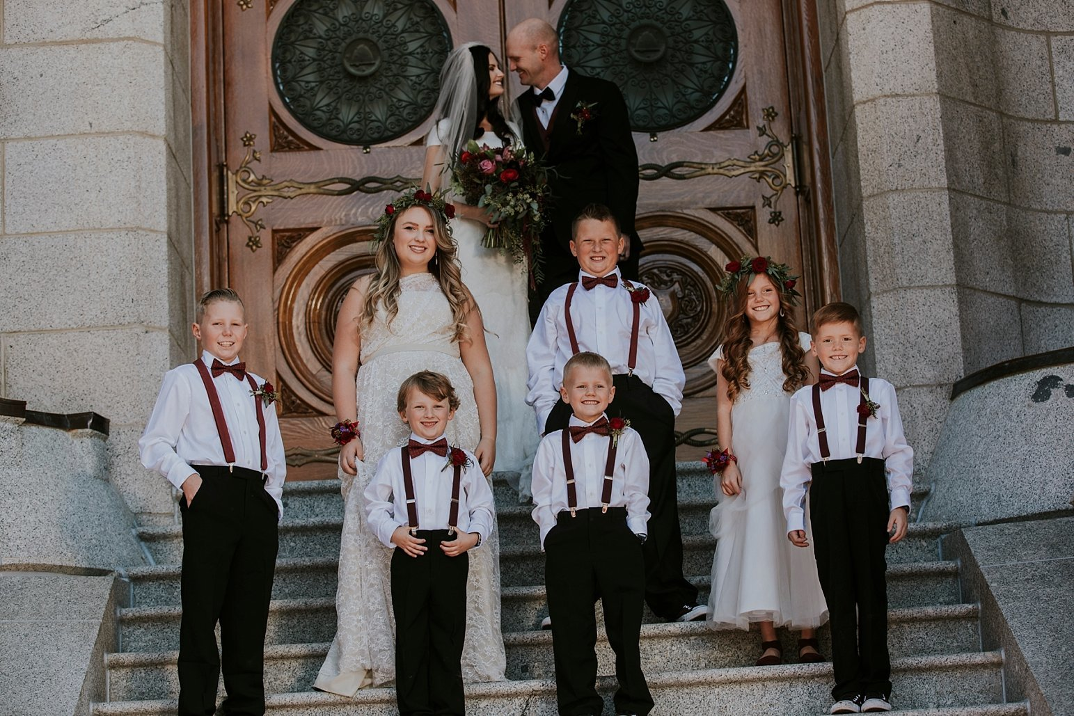 Utah Wedding Photographer Kamille Bauer Cody Calderwood Salt Lake Temple Salt Lake Hardware Building_0290