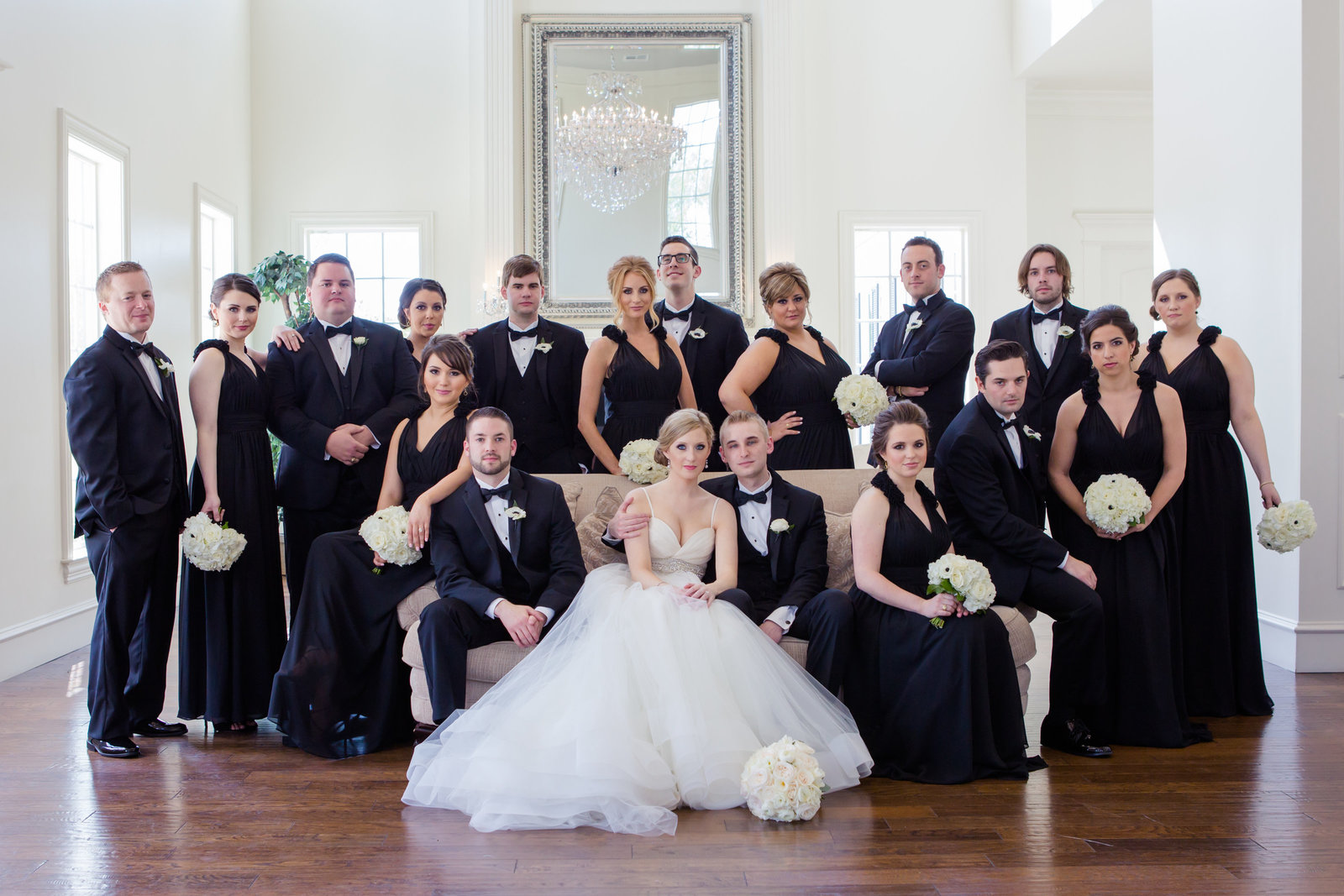 Bridal party photo at The Milestone Krum by Brittany Barclay Photography