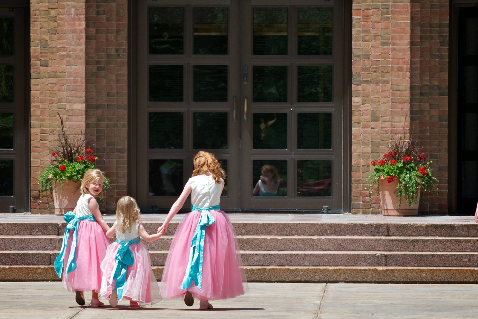 Flower Girls enter Loretto Chapel at St. Mary's College