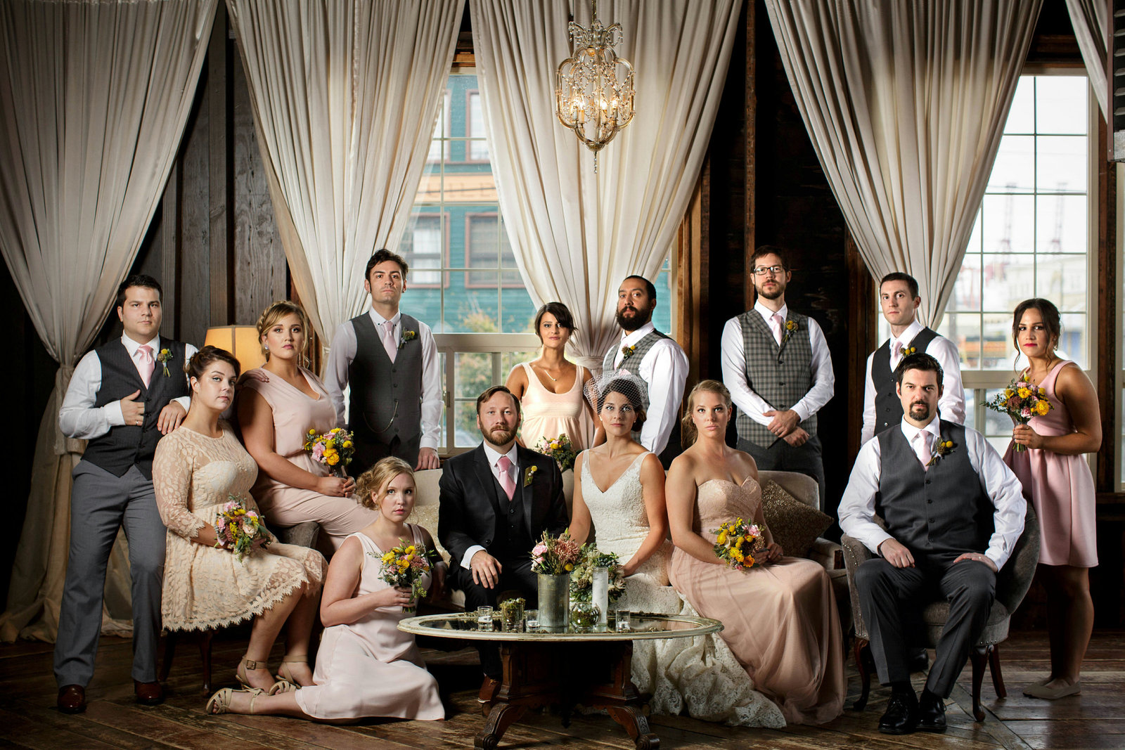 vouge bridal party vanity fair wedding portrait