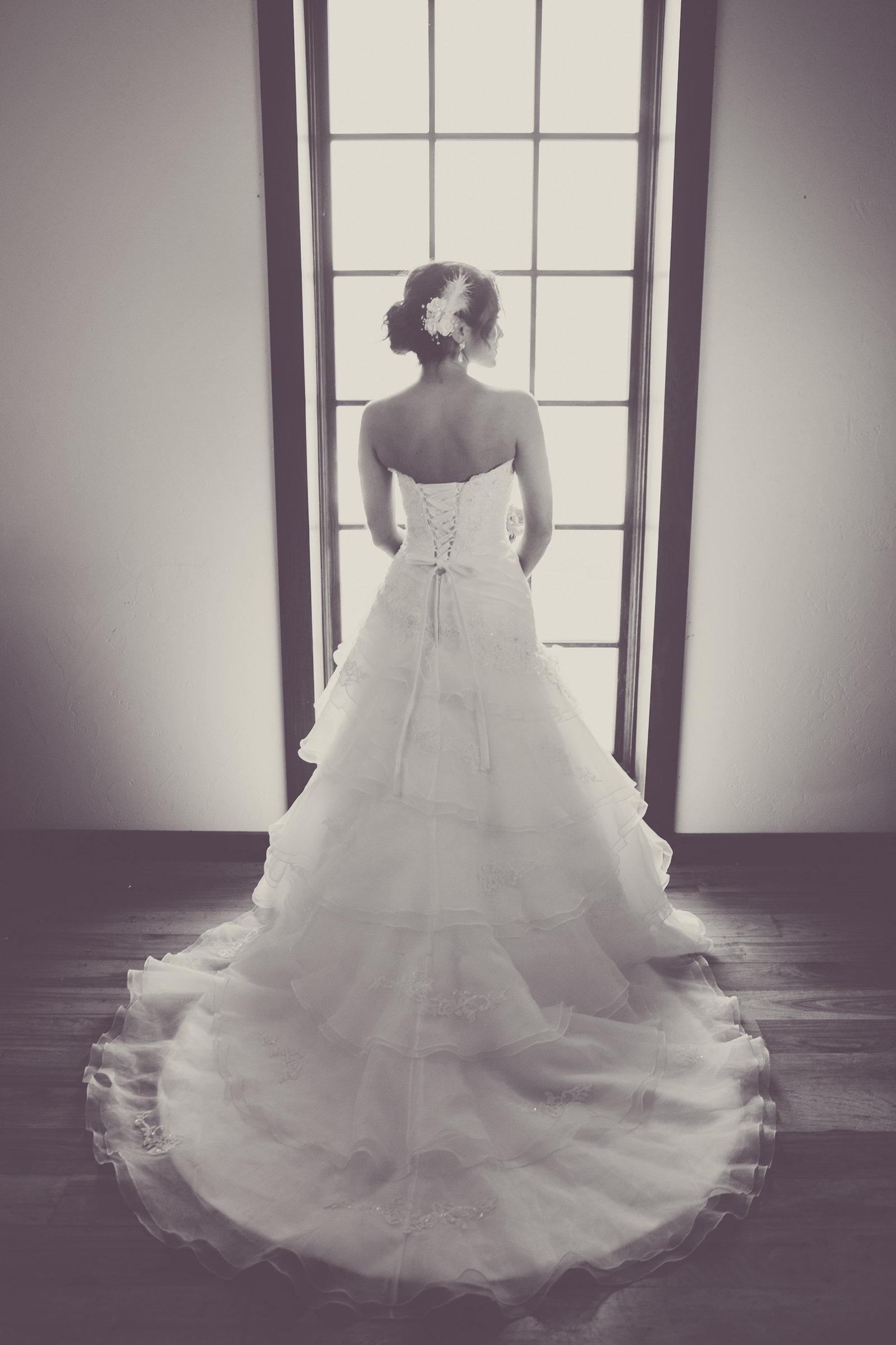 Austin Family Photographer, Tiffany Chapman, bride in window photo