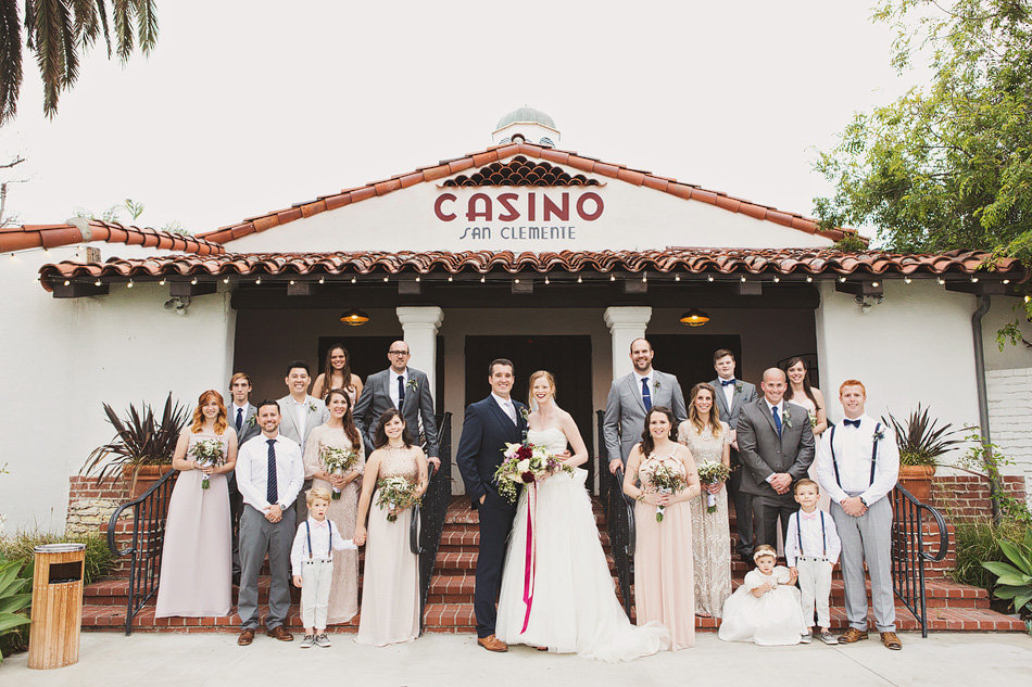 Bridal Party portrait at The Casino, San Clemente CA