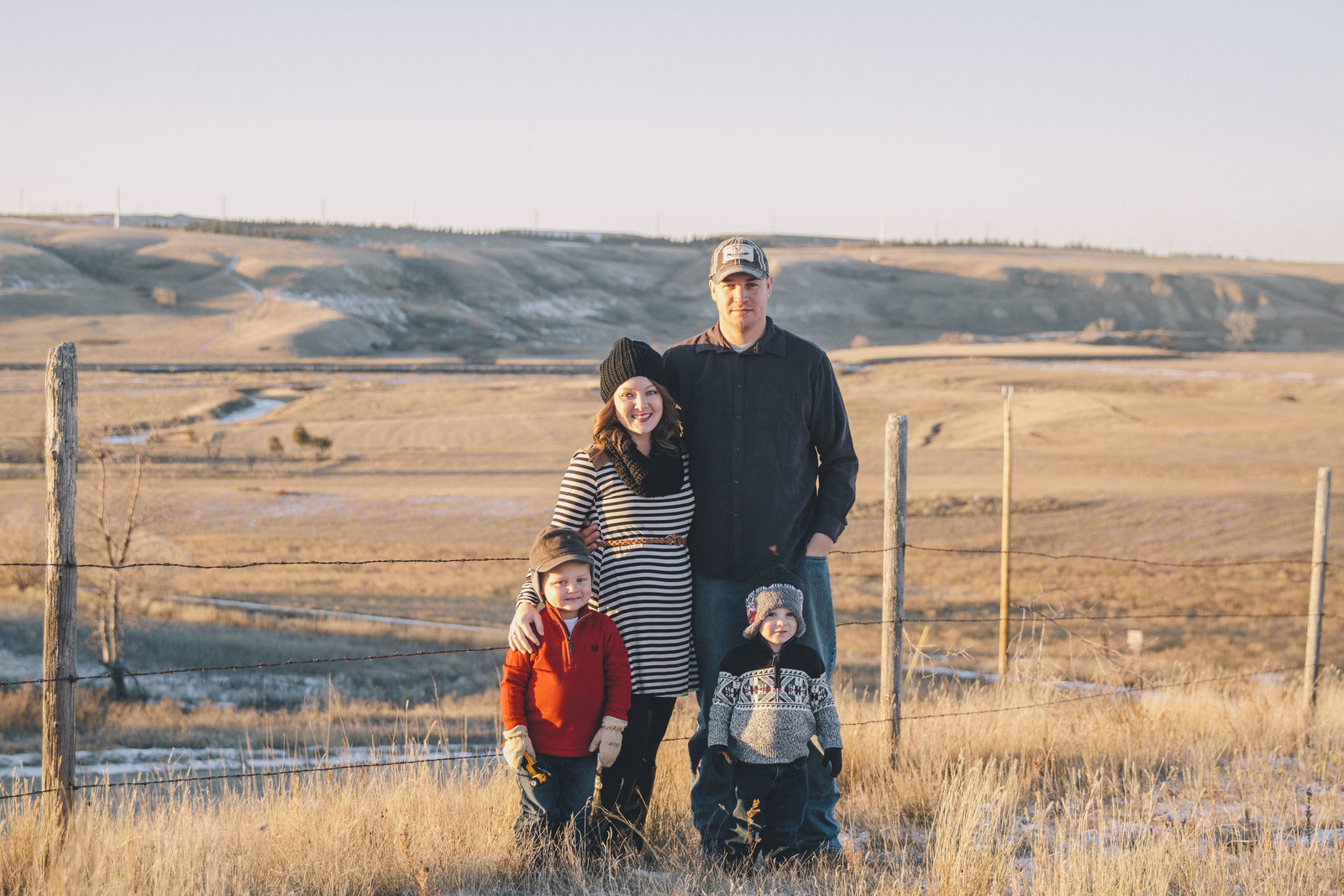 family | winter | elizabeth street photography | Williston, ND