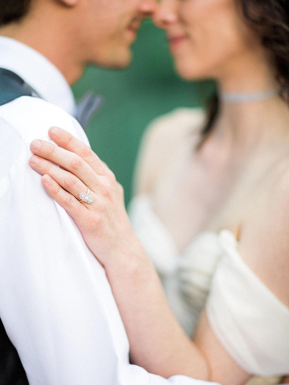 Bride and groom portraits | art museum elopement wedding