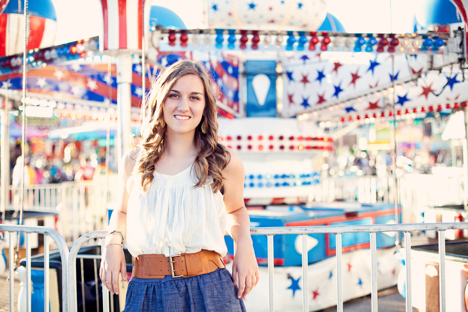 senior portrait at the state fair