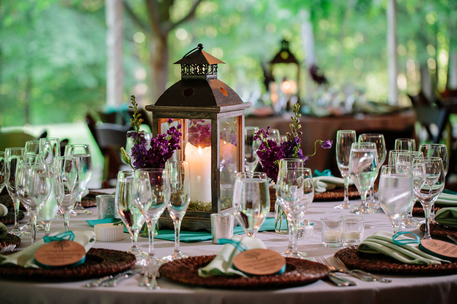 Woodend Sanctuary Table Centerpiece with laterns