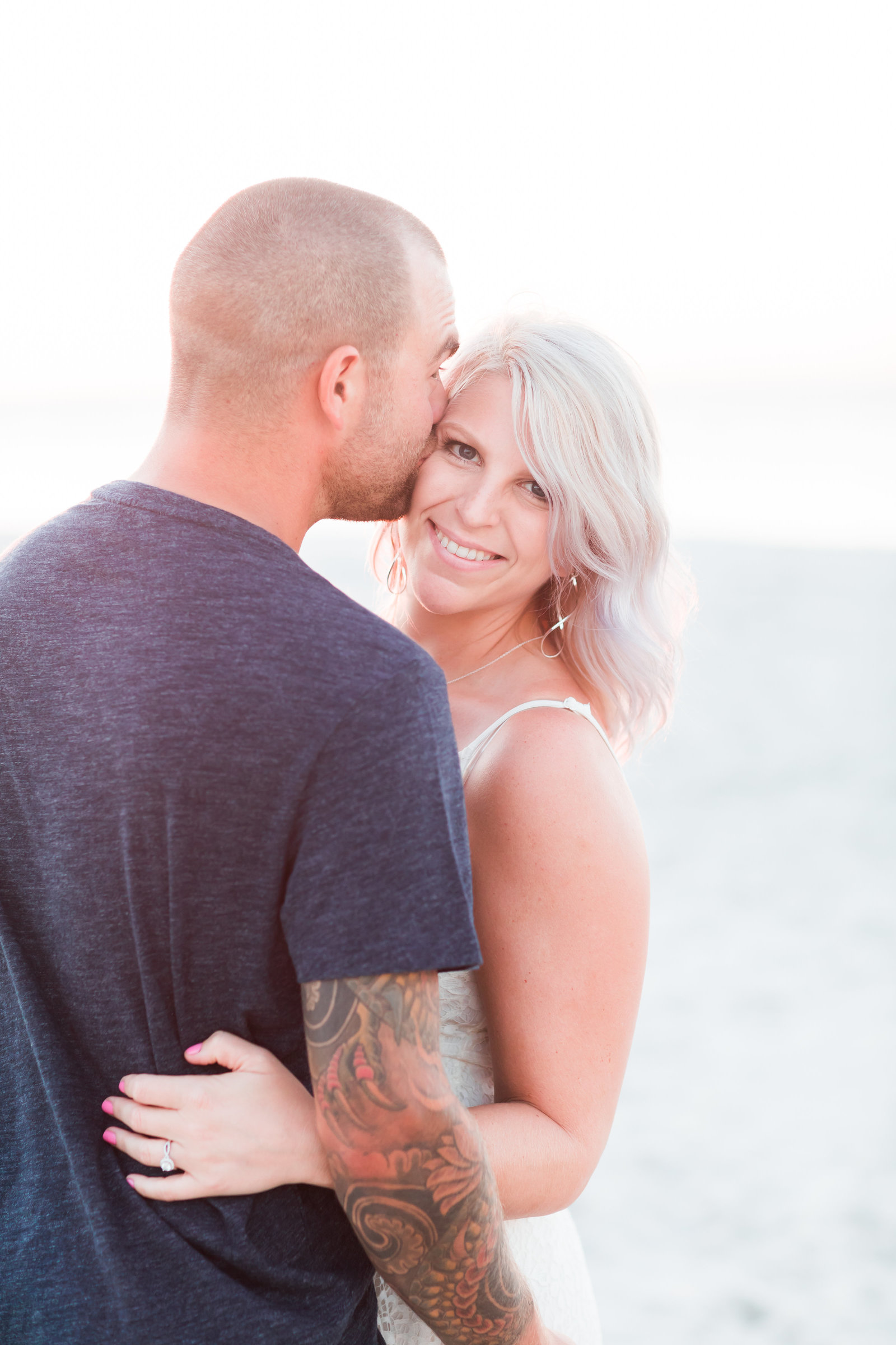 Cape Charles Sunset Engagement Session by Elizabeth Friske Photography-6