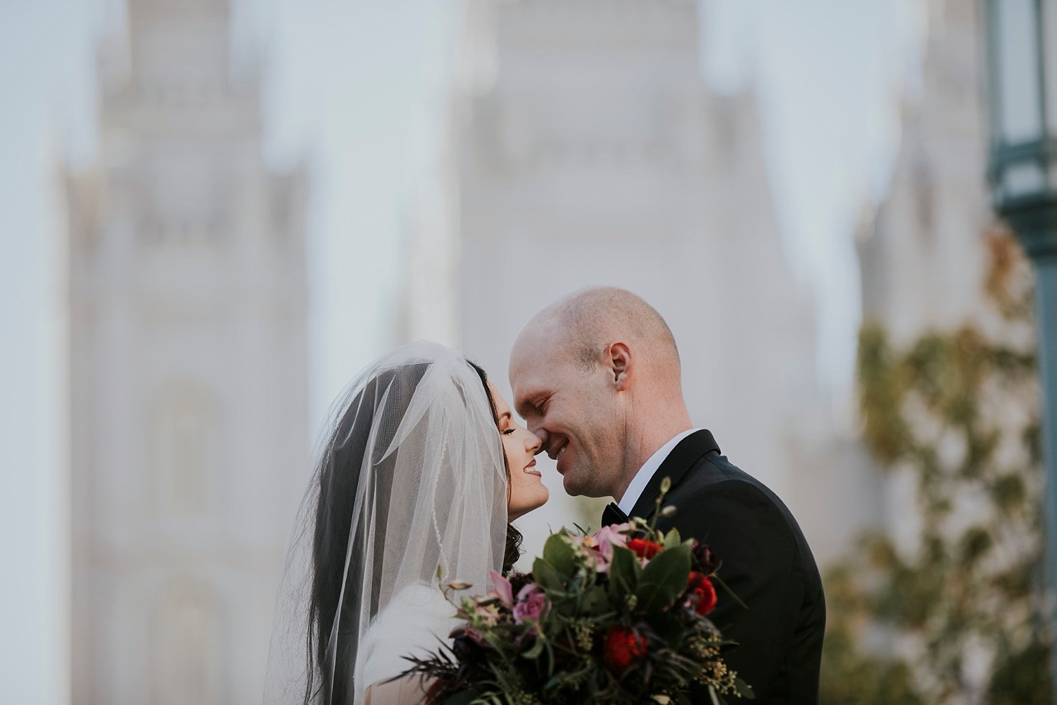 Utah Wedding Photographer Kamille Bauer Cody Calderwood Salt Lake Temple Salt Lake Hardware Building_0302