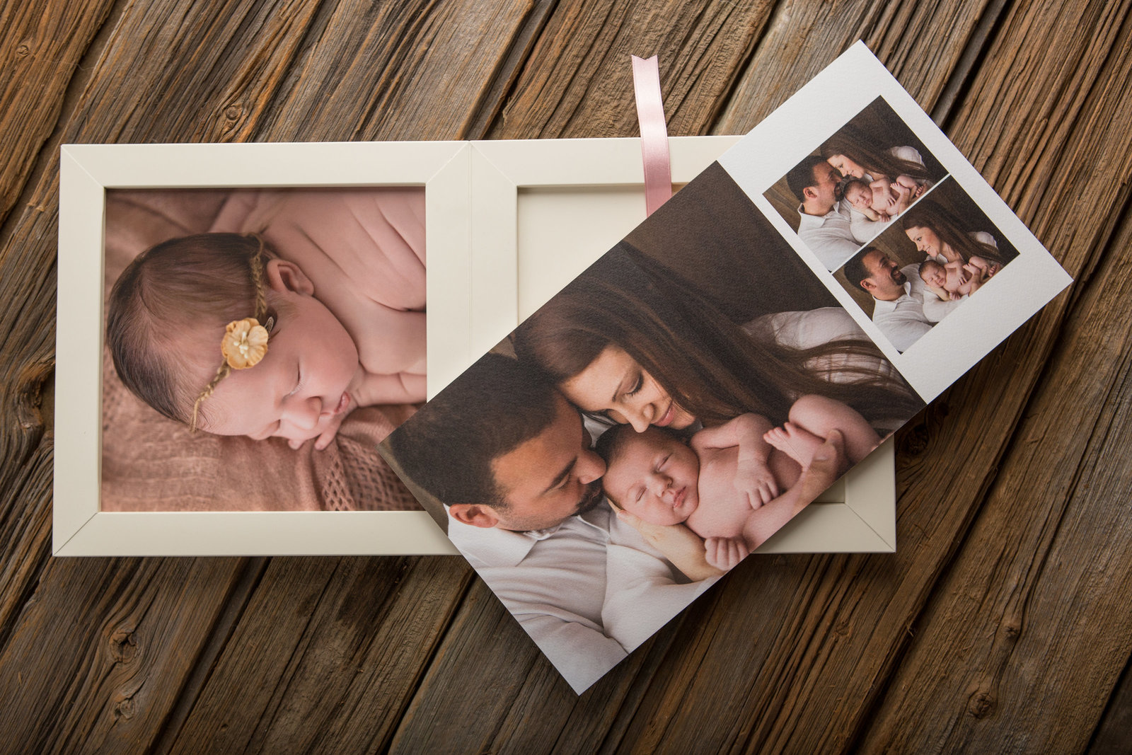 fine art boxed baby book album by Hudson Valley  professional newborn baby photographer in Cornwall NY