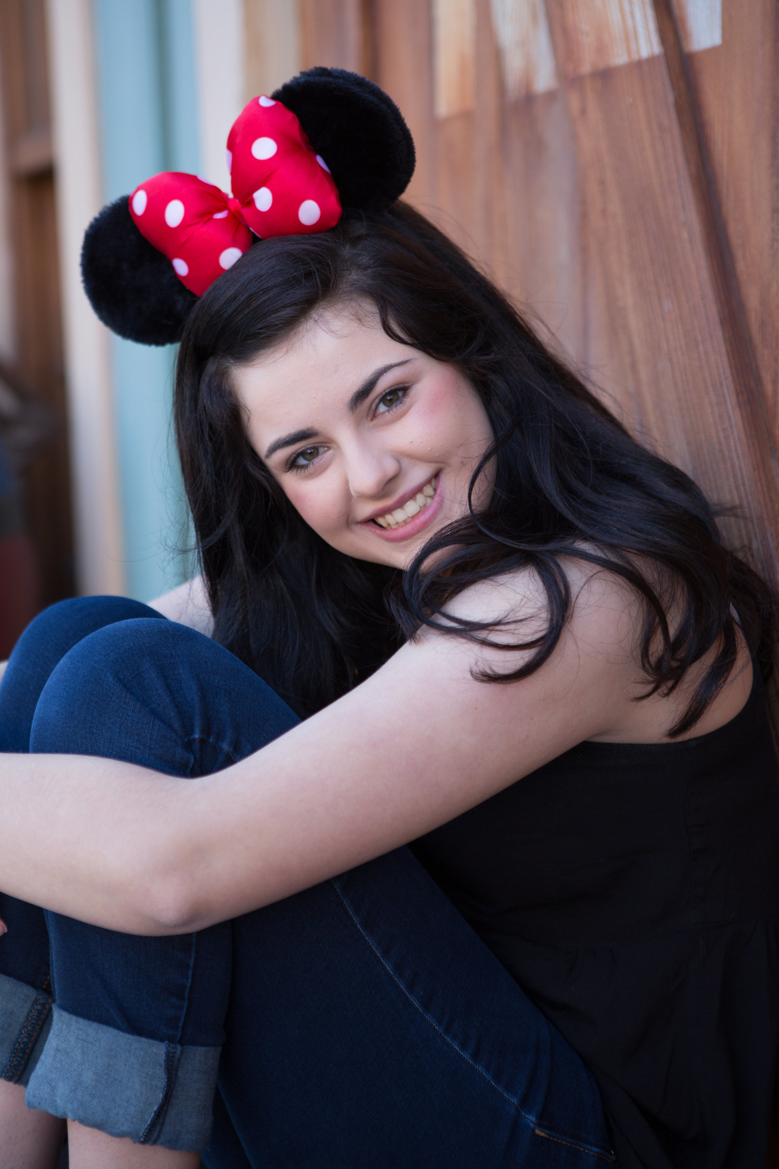 cute girl disney senior portrait
