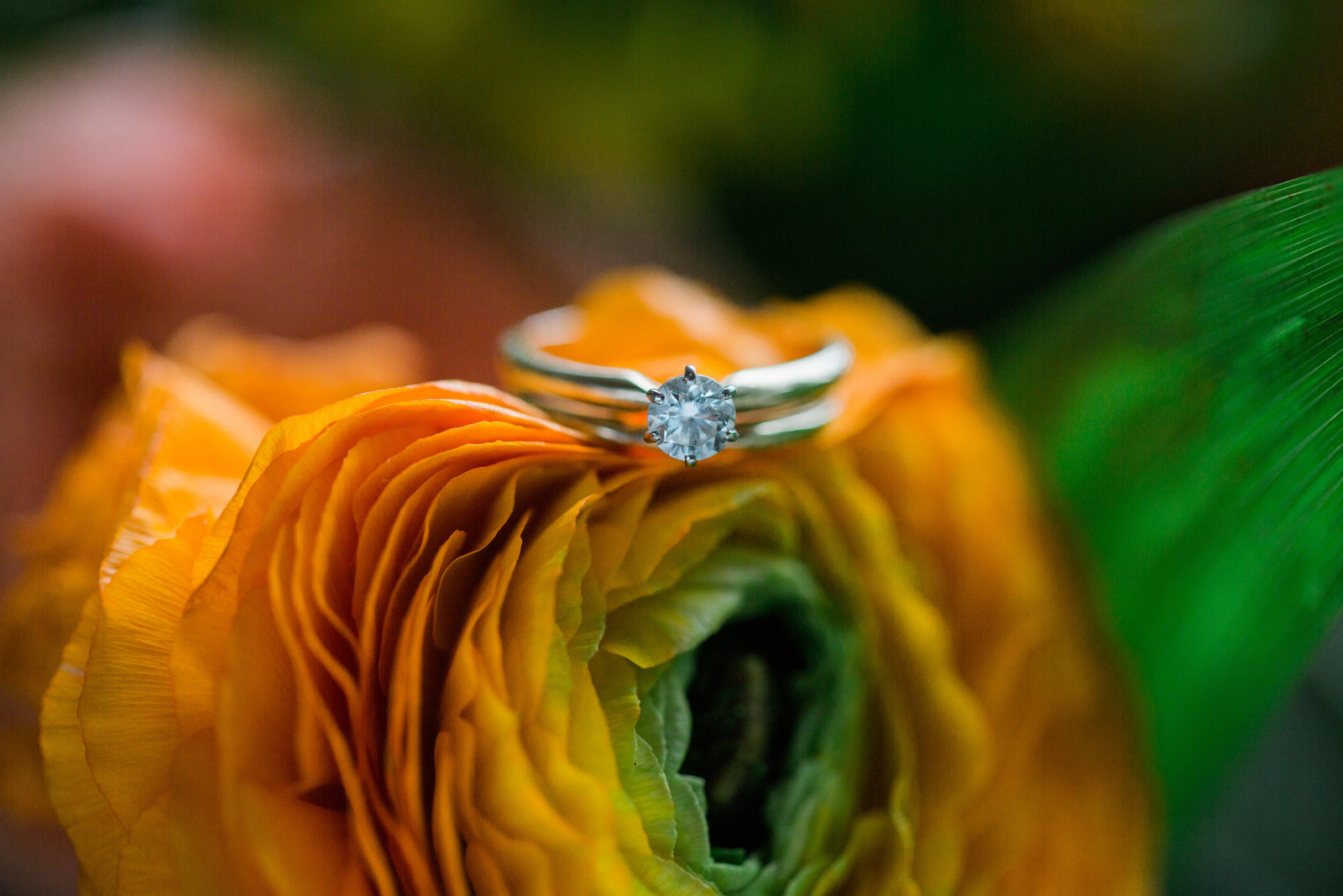 Floral ring shot by Austin & Rachel Photography