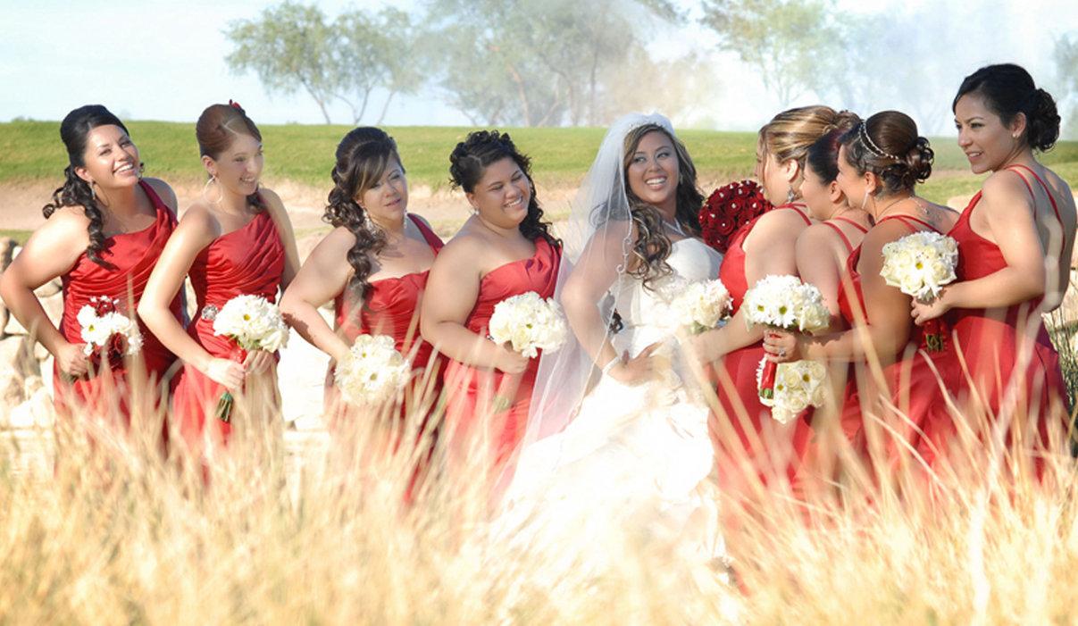 Wedding Playful bride maids time