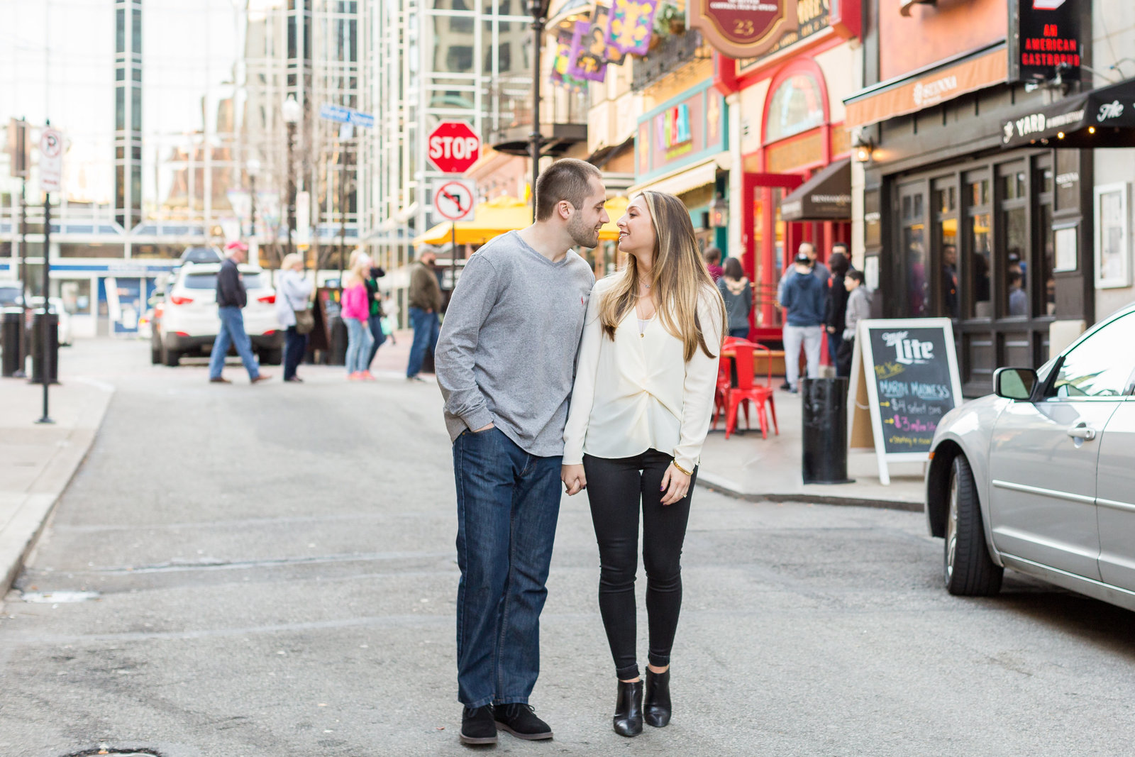 Market Square Pittsburgh engagement session Mecca Gamble Photography