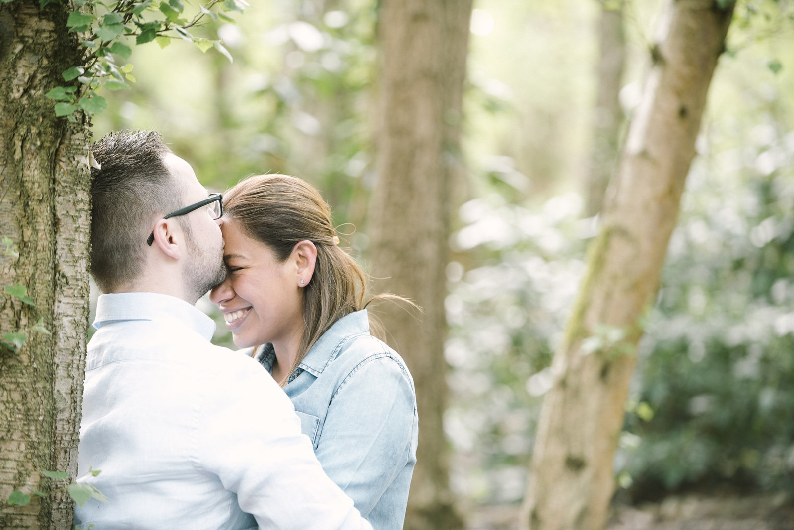 couple in woods photos