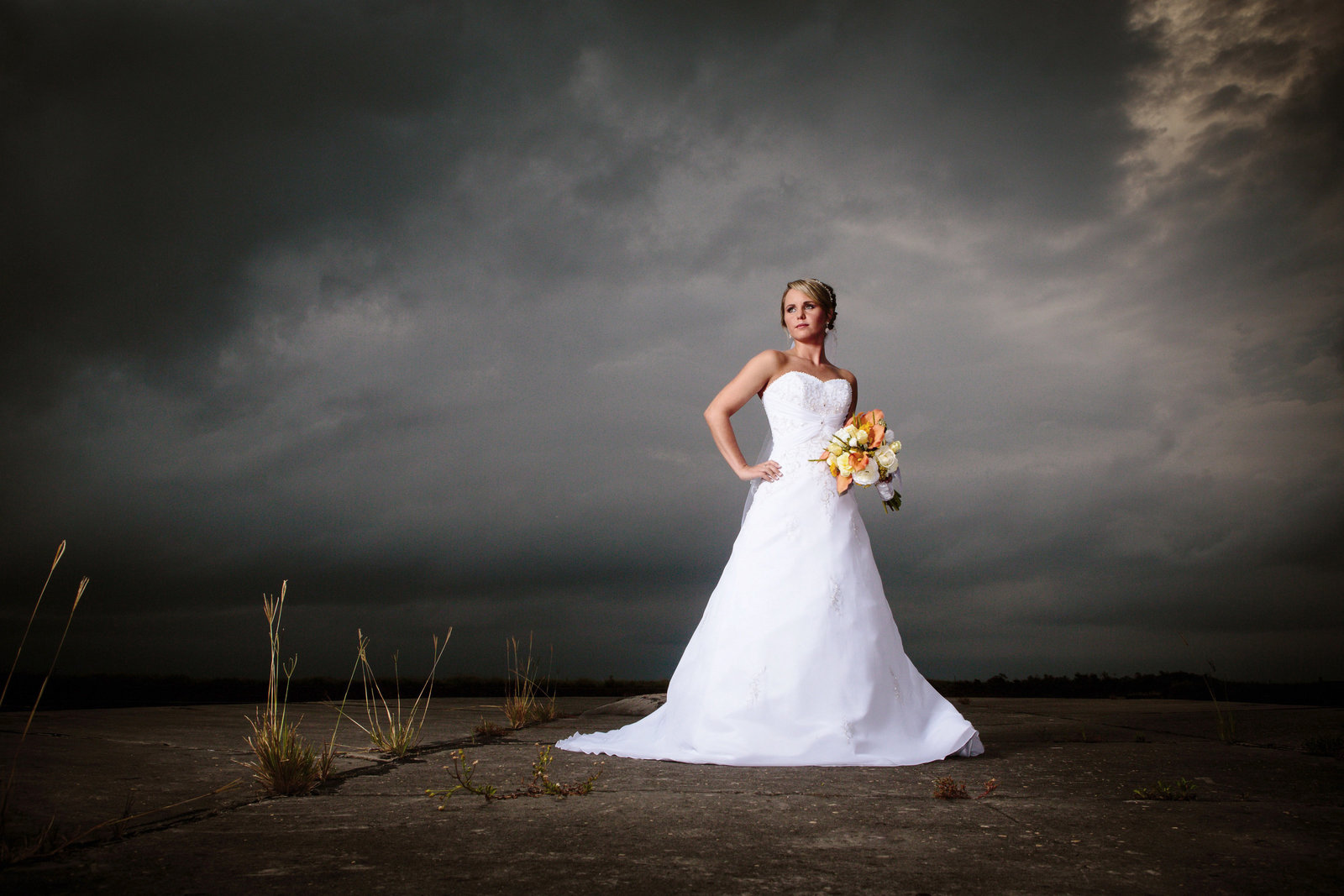 Sydney Boutwell bridal session at Ft. Morgan State Park in Fort Morgan, Alabama.