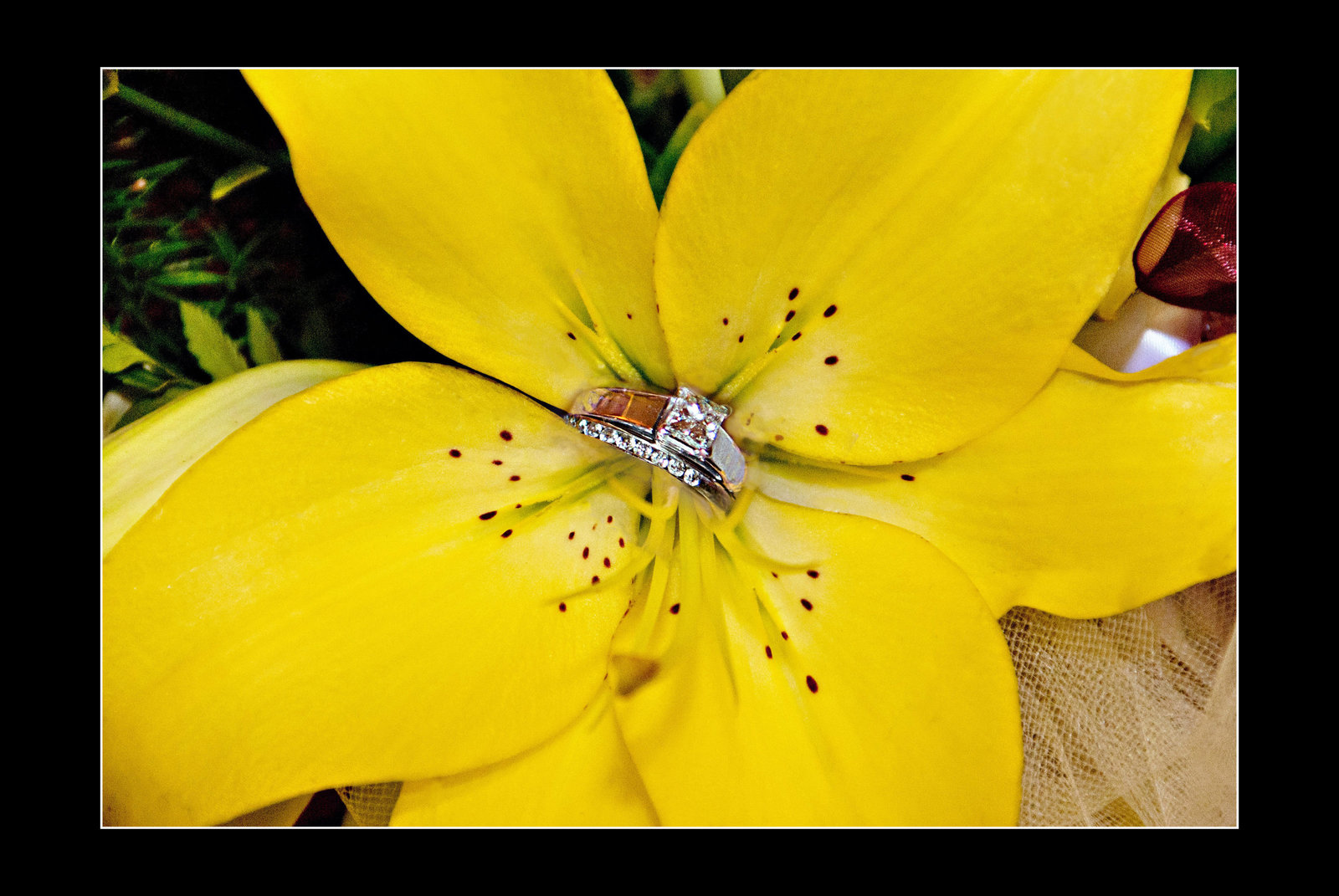 Flower and ring