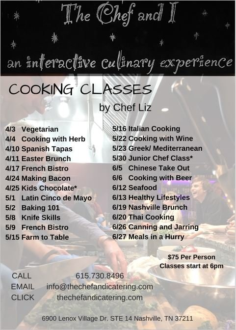 Cooking Classes 2nd quarter 2017