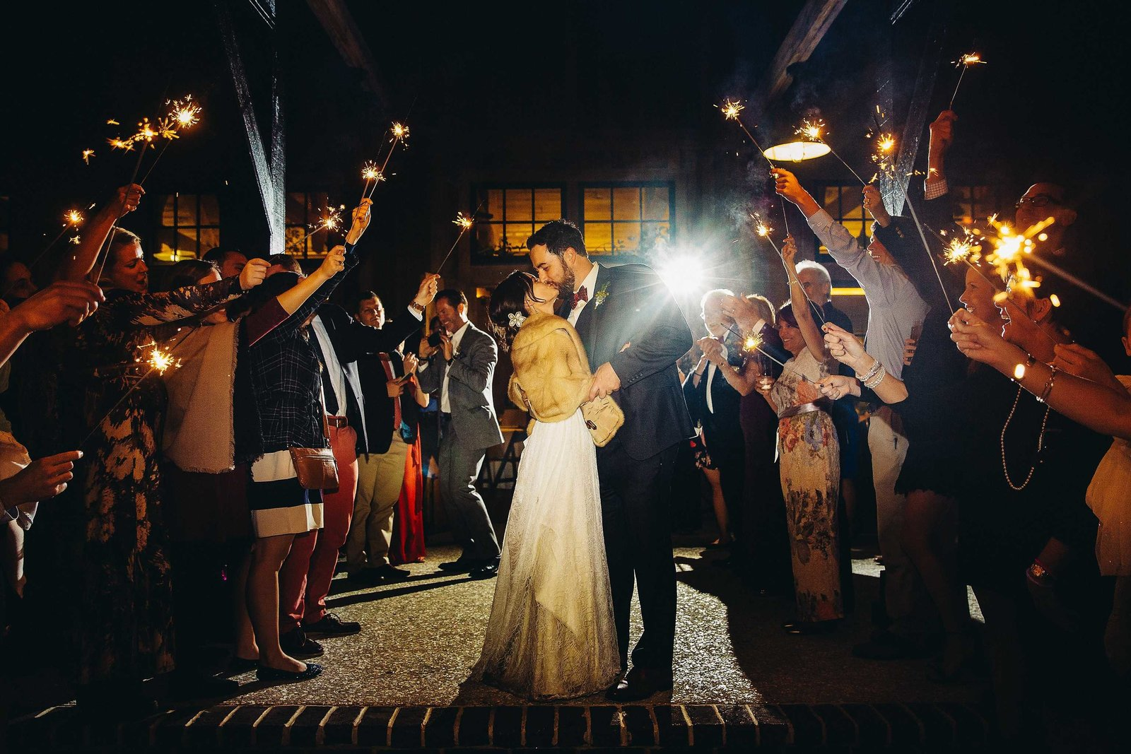 Sparkler-exit-pepper-plantation-wedding-Photographers-in-Charleston-SC-Fia-Forever-Photography