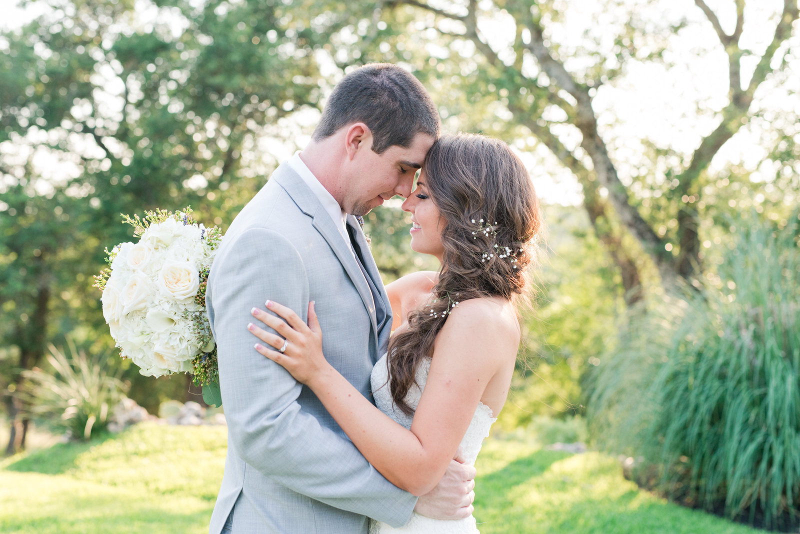 Gray and Cream colored wedding at The Springs in Georgetown shared by recommended wedding photography team