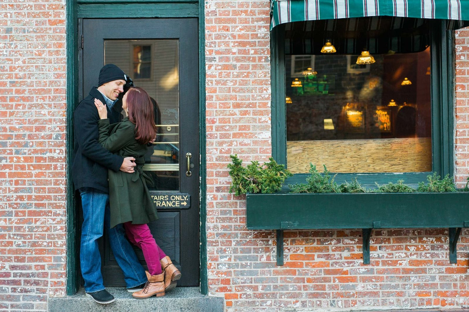 Newburyport Massachusetts Engagement Shoot Brick Image