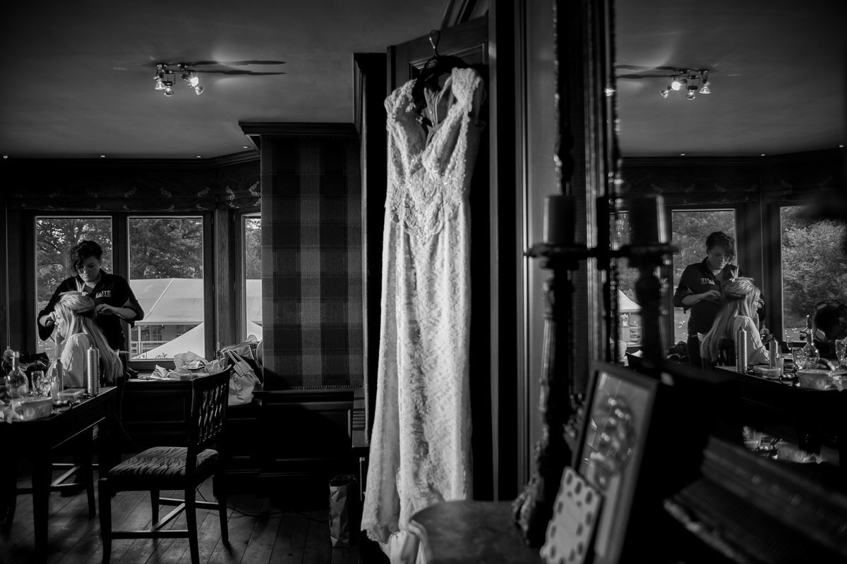 Brasschaat trouw bruid en bruidgom foto