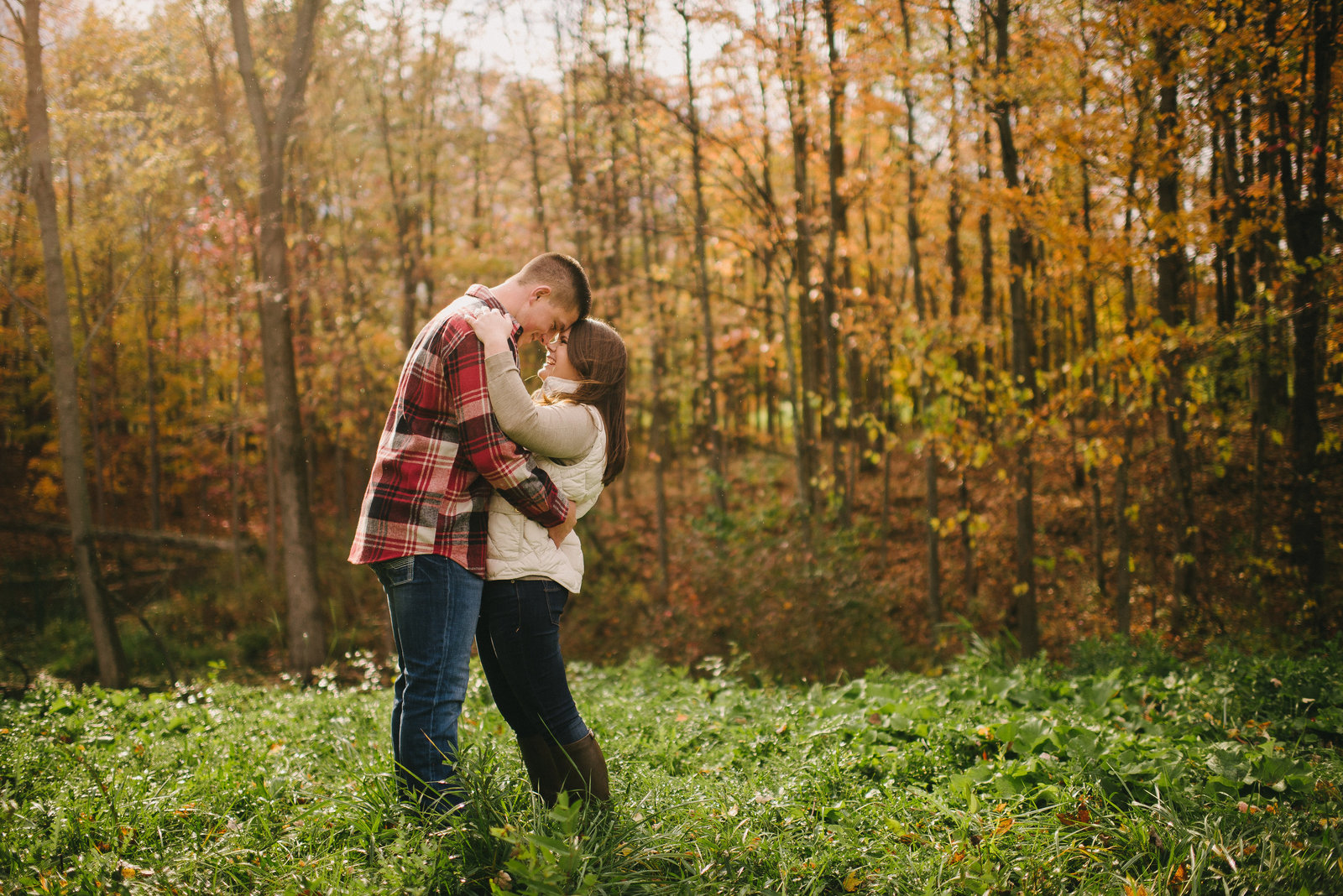 Youngstown OH fall engagement session