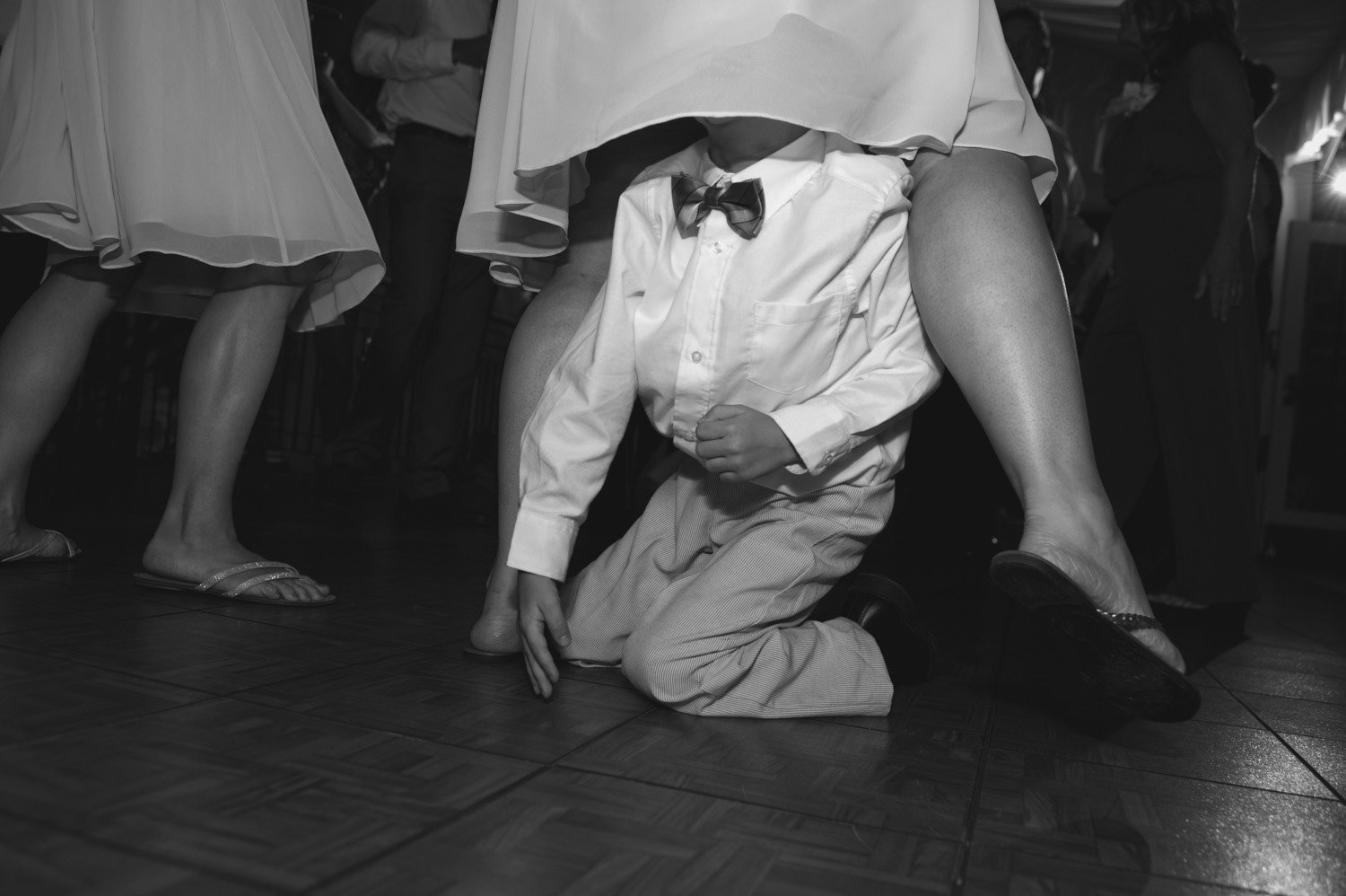 Kids dancing during the wedding reception at a Philadelphia wedding