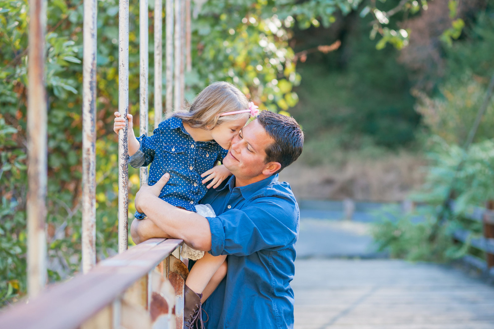 Colfax  family session father and daughter telling secrets