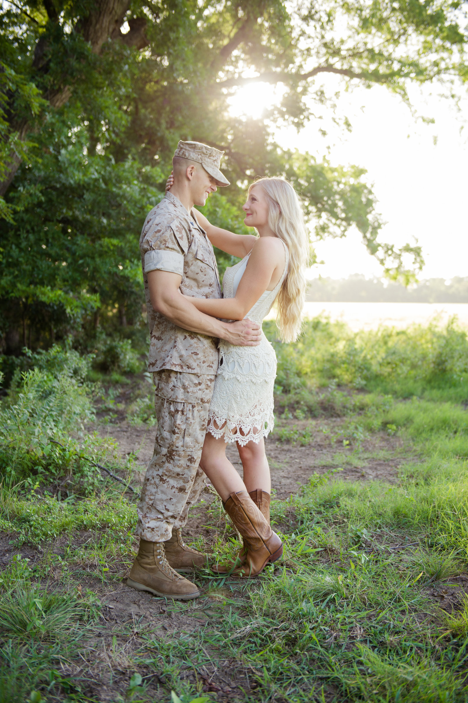 Military Engagement Photo by Brittany Barclay Photography