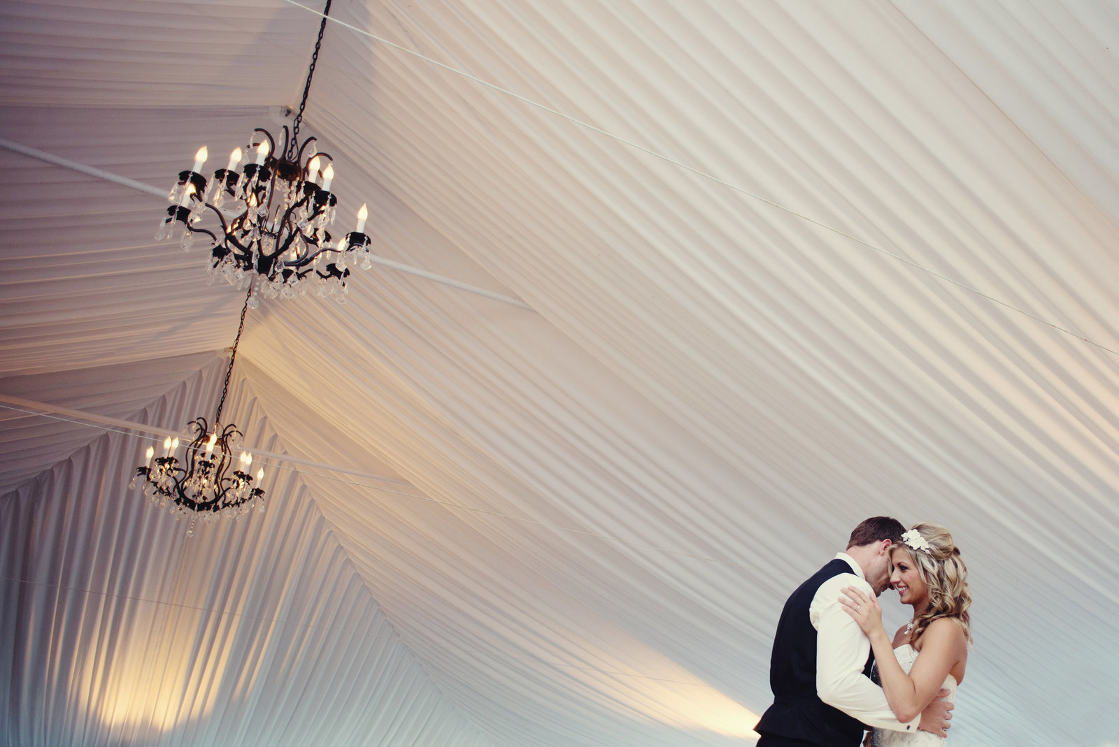 first wedding dance under the big tent