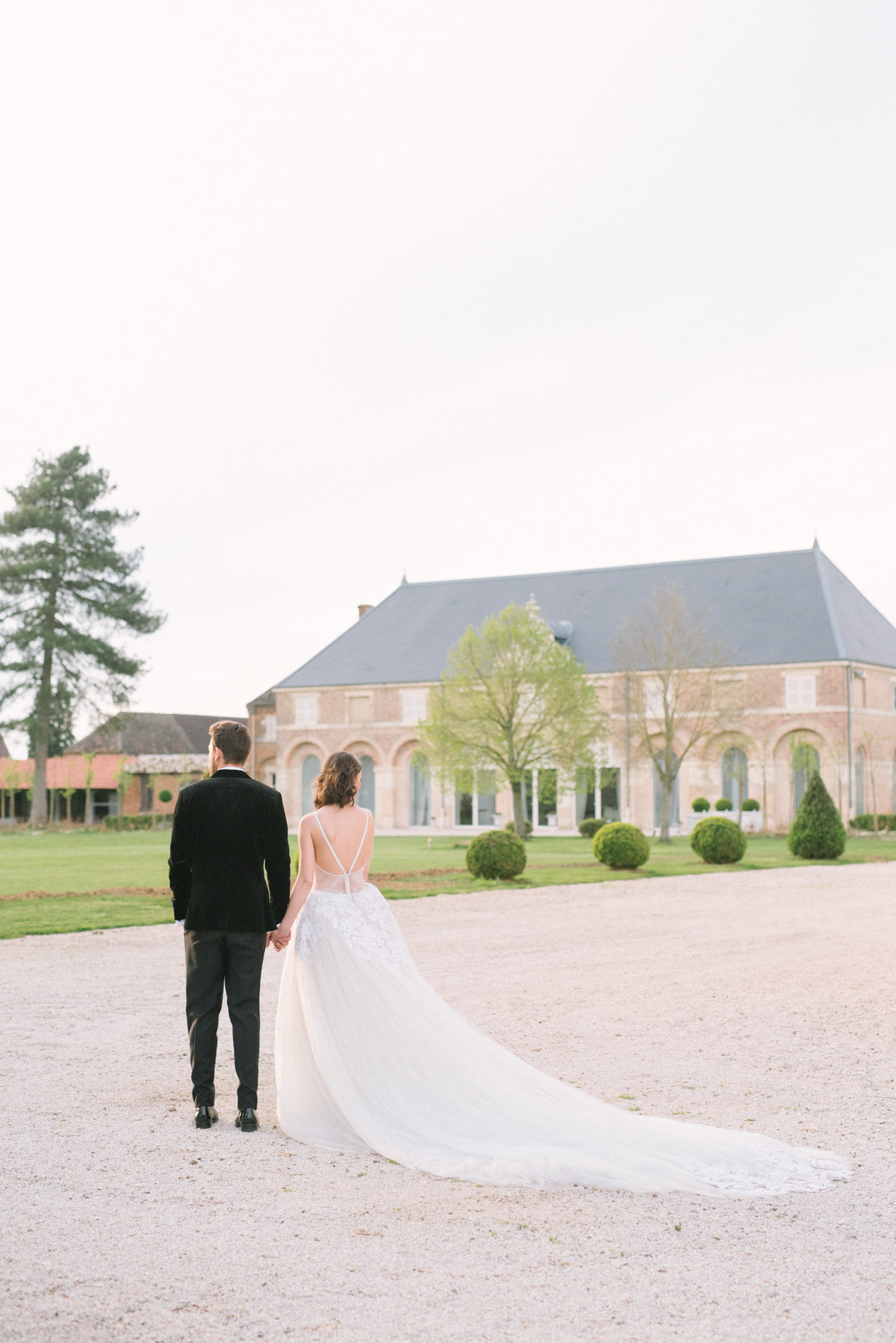 Destination Wedding Film Fine Art Photographer  France -French Chateau Elopement _ Hello Blue Photo -86