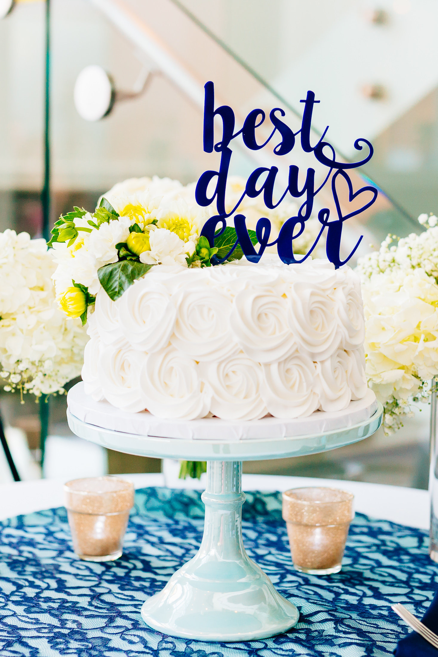 Wedding Day Details - Best Day Ever Cake Topper-1
