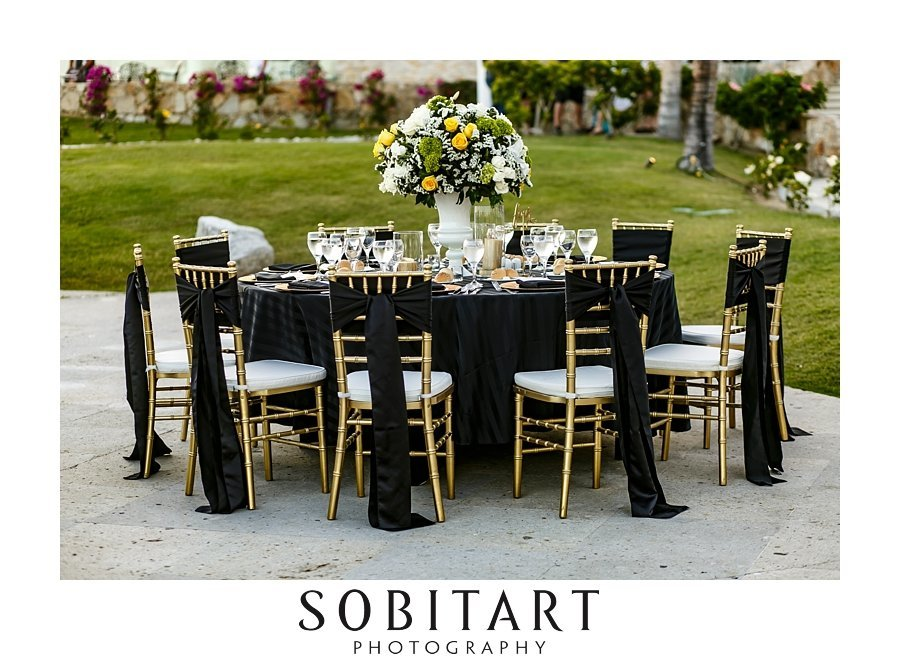 event design for formal destination  at Dream Resorts Los Cabos Mexico photo by Sobitart Photography
