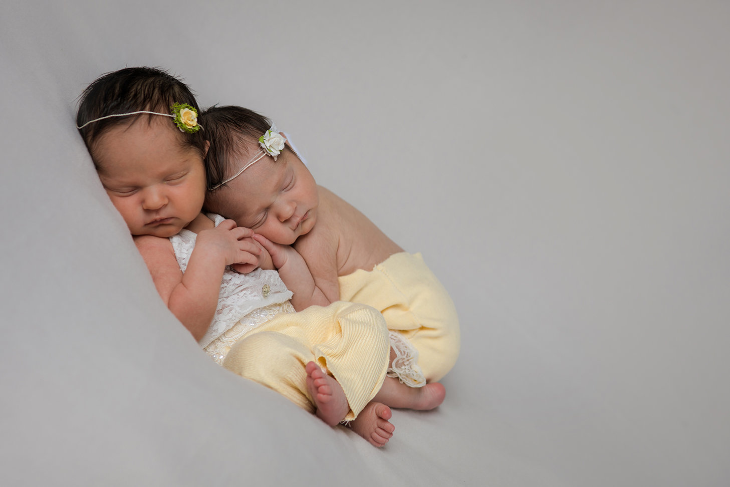 Newborn Baby Twin Girls