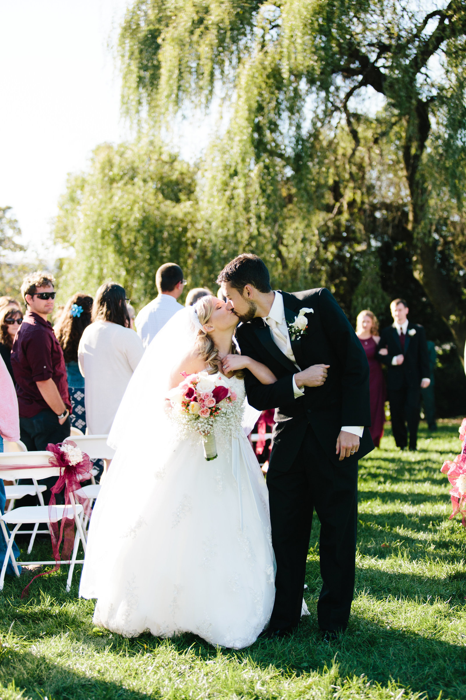 Outdoor ceremony in Central, Ohio at the Quailcrest Farm by Austin and Rachel Photography