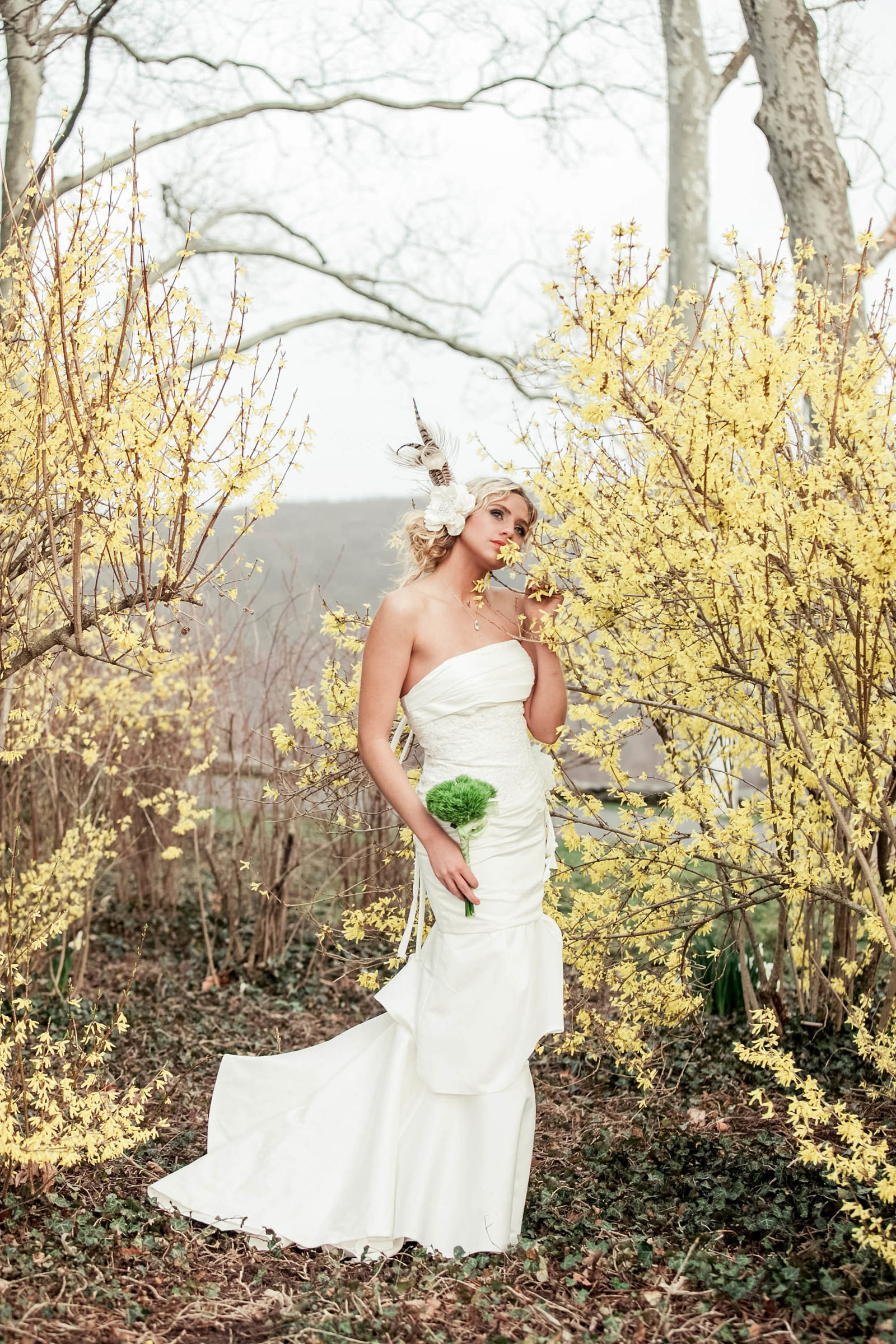 feather-yellow-flower-bridal-fashion-drumore-estate-editorial-pennsylvania-kate-timbers-photography035