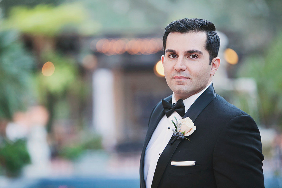 Groom portrait at Rancho Las Lomas Wedding