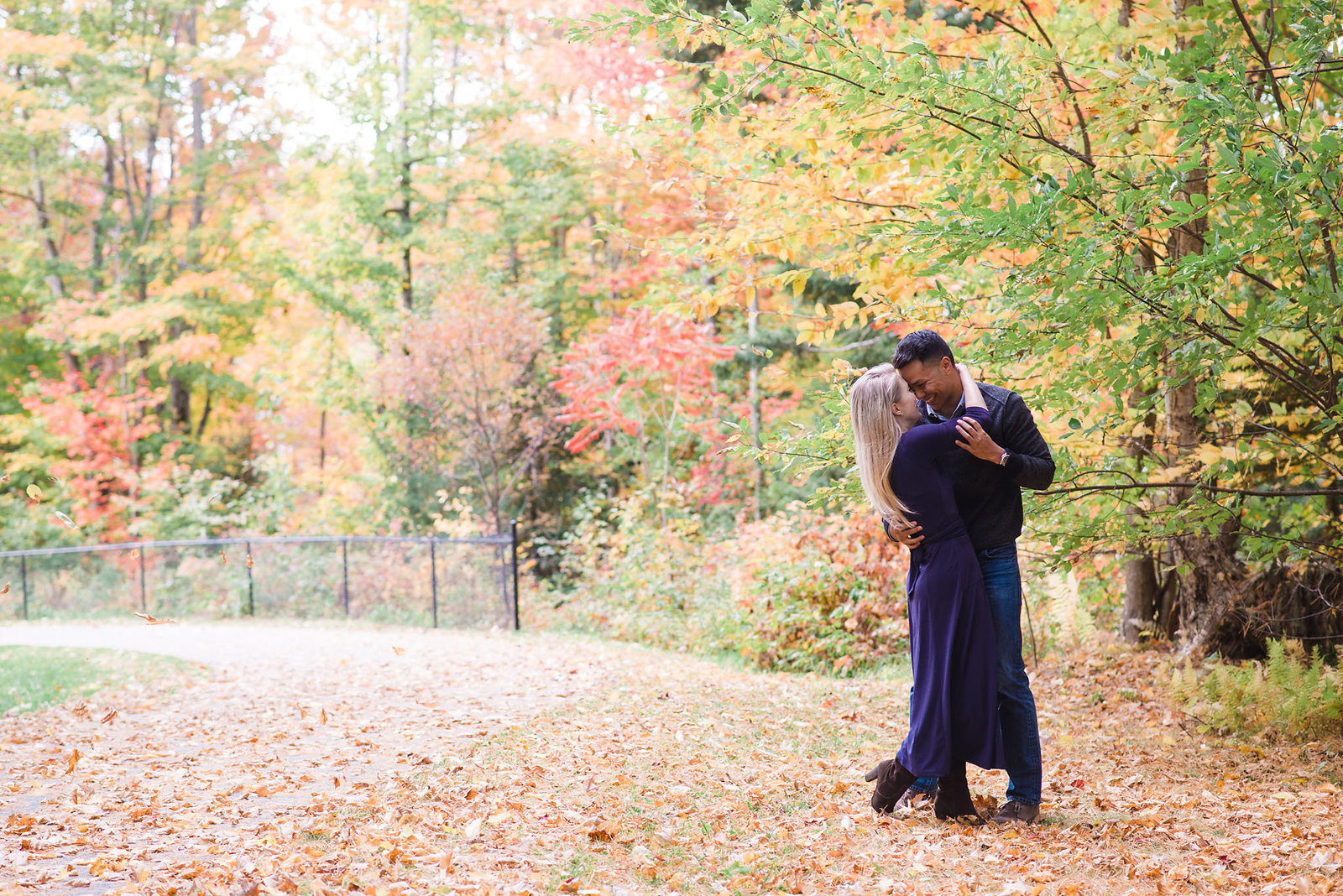 Vermont fall engagement session, Vermont wedding photographer