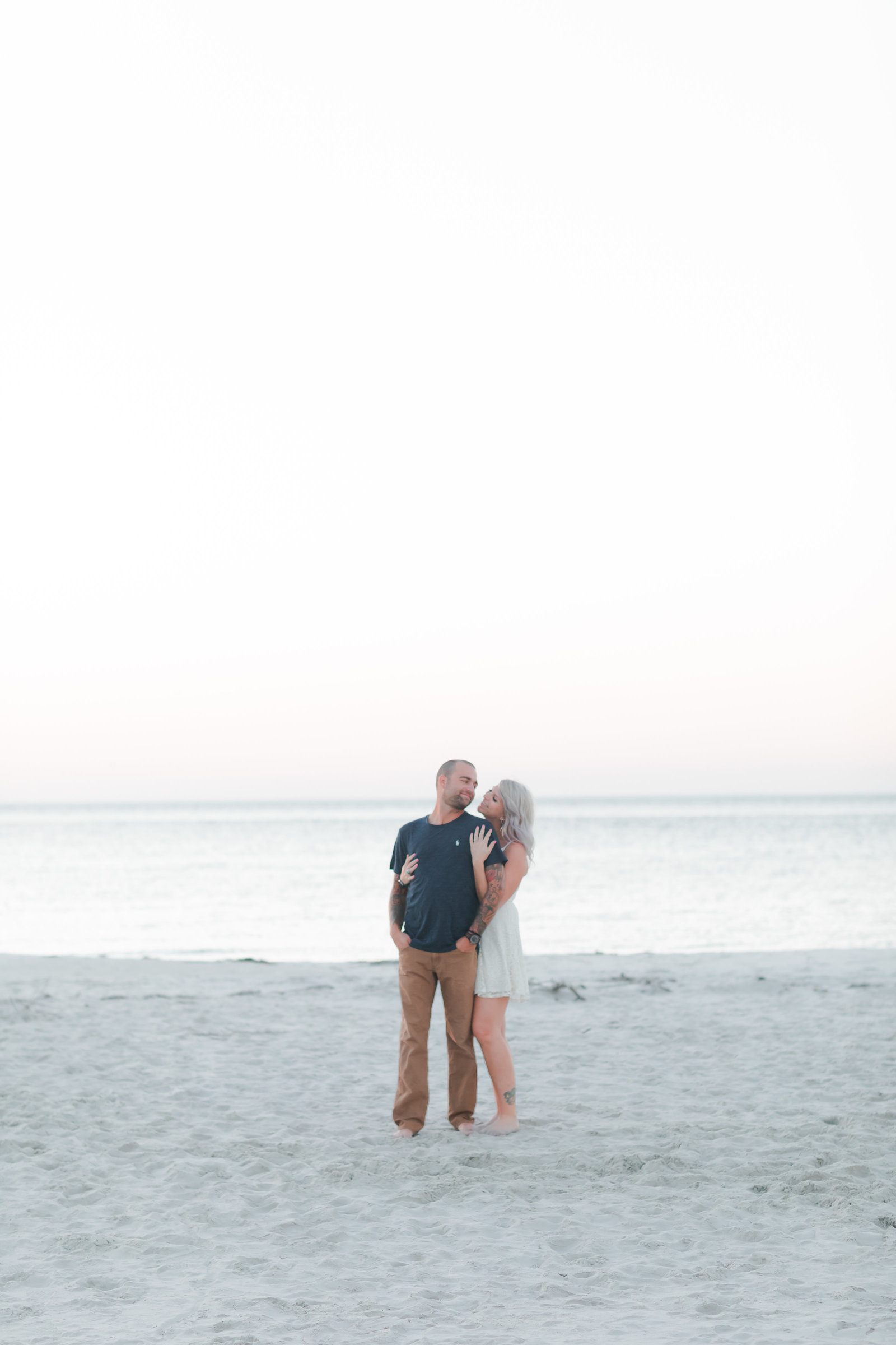 Cape Charles Sunset Engagement Session by Elizabeth Friske Photography-13