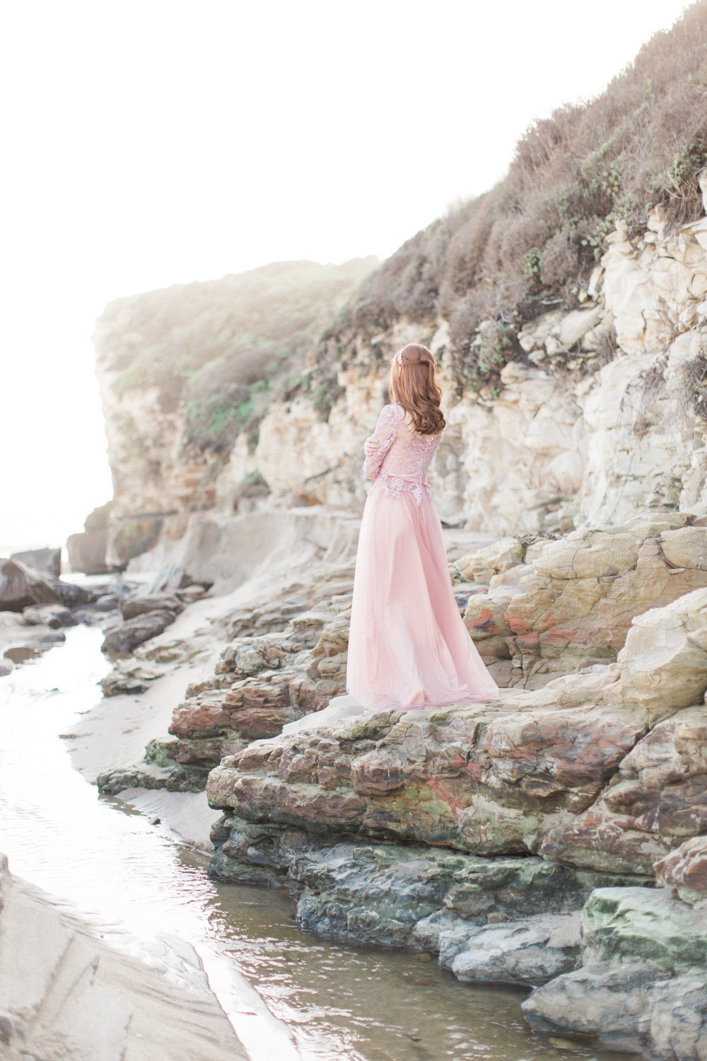 Once Wed Romantic Coastal Cliffside Film Inspired Bridal S-Gallery-0018