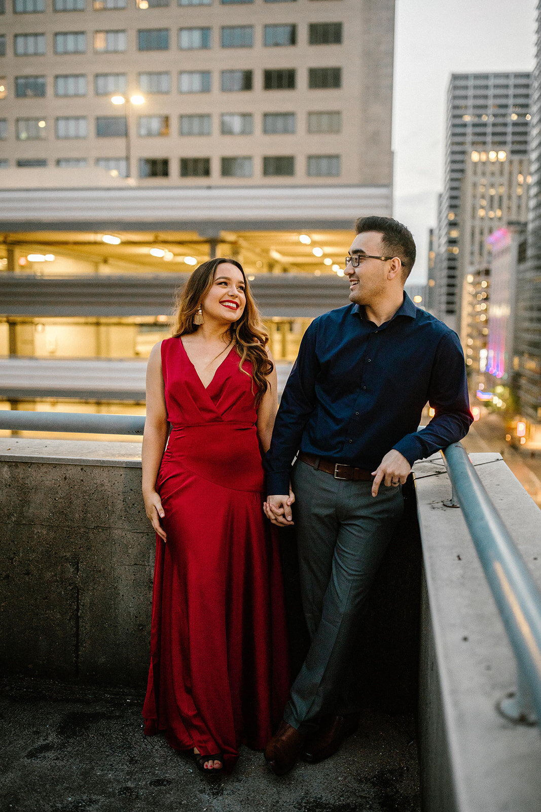 Kori+Tommy_Memorial Park and Downtown Houston Engagements_45