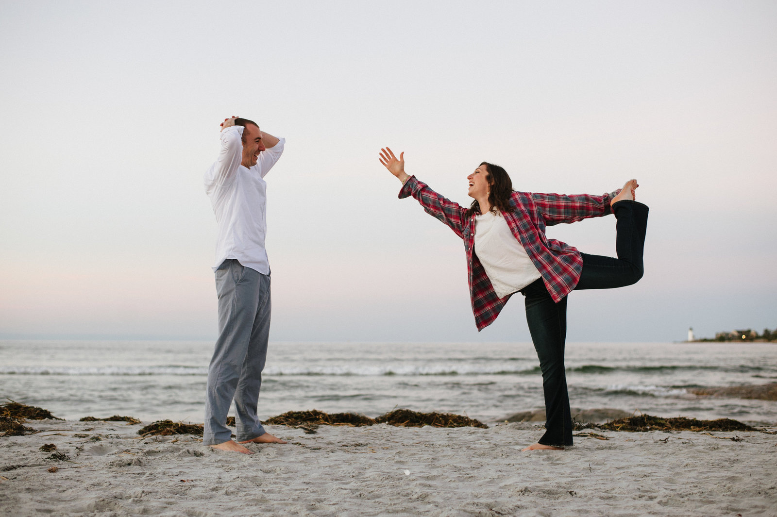 Yoga on the Beach Engagement Session