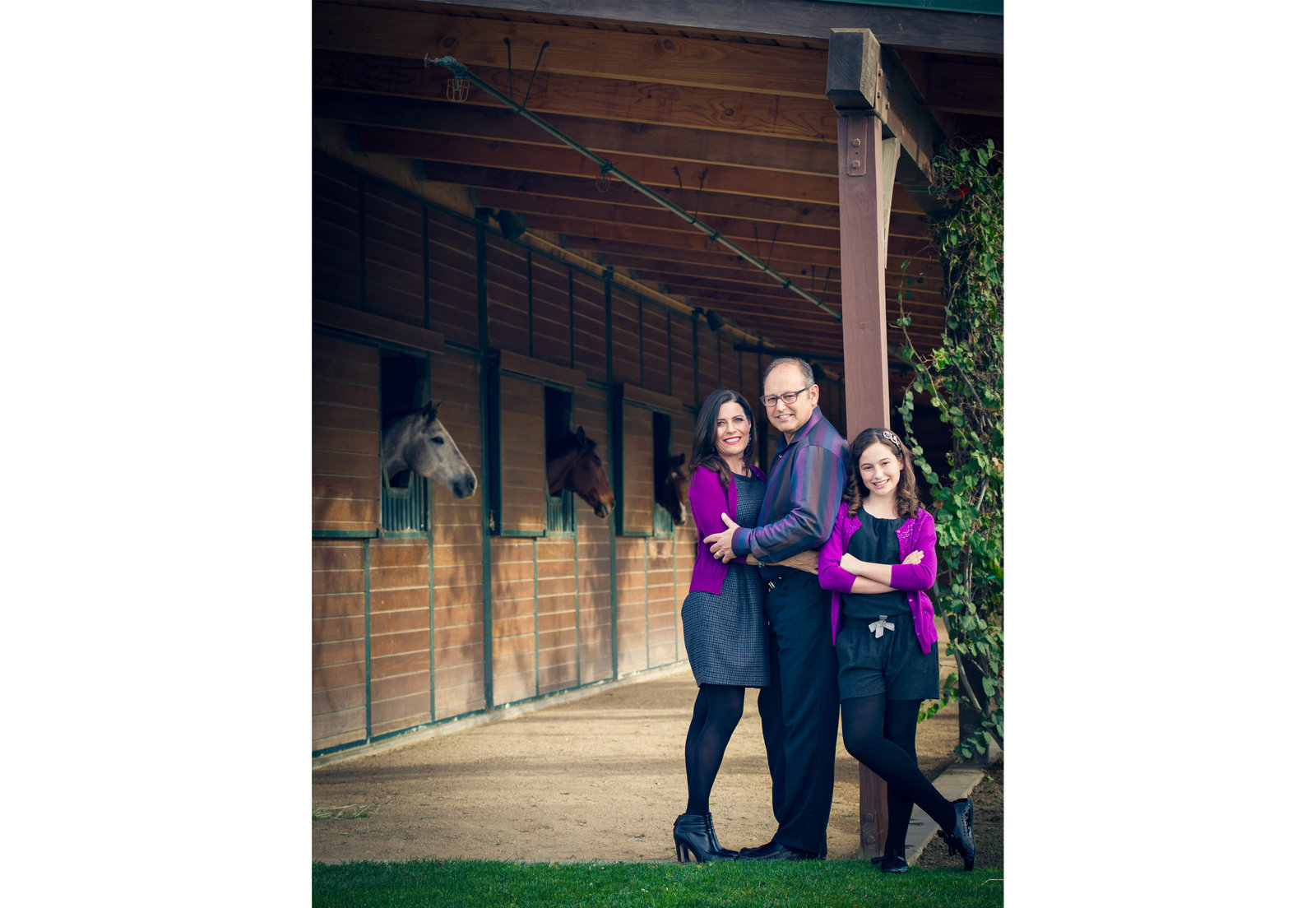 family photography at horse stable in San Juan Capistrano by inGRACE photography