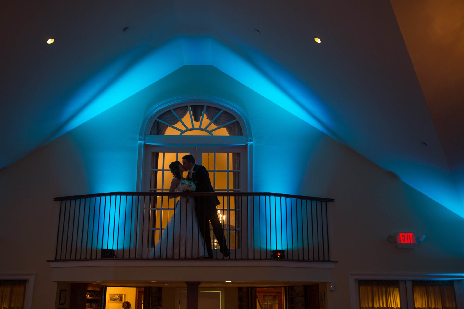 Blue LED Wedding photograph from CT