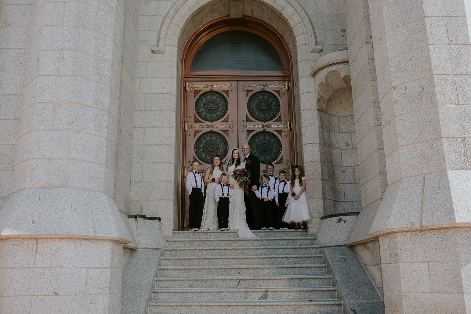 Utah Wedding Photographer Kamille Bauer Cody Calderwood Salt Lake Temple Salt Lake Hardware Building_0289