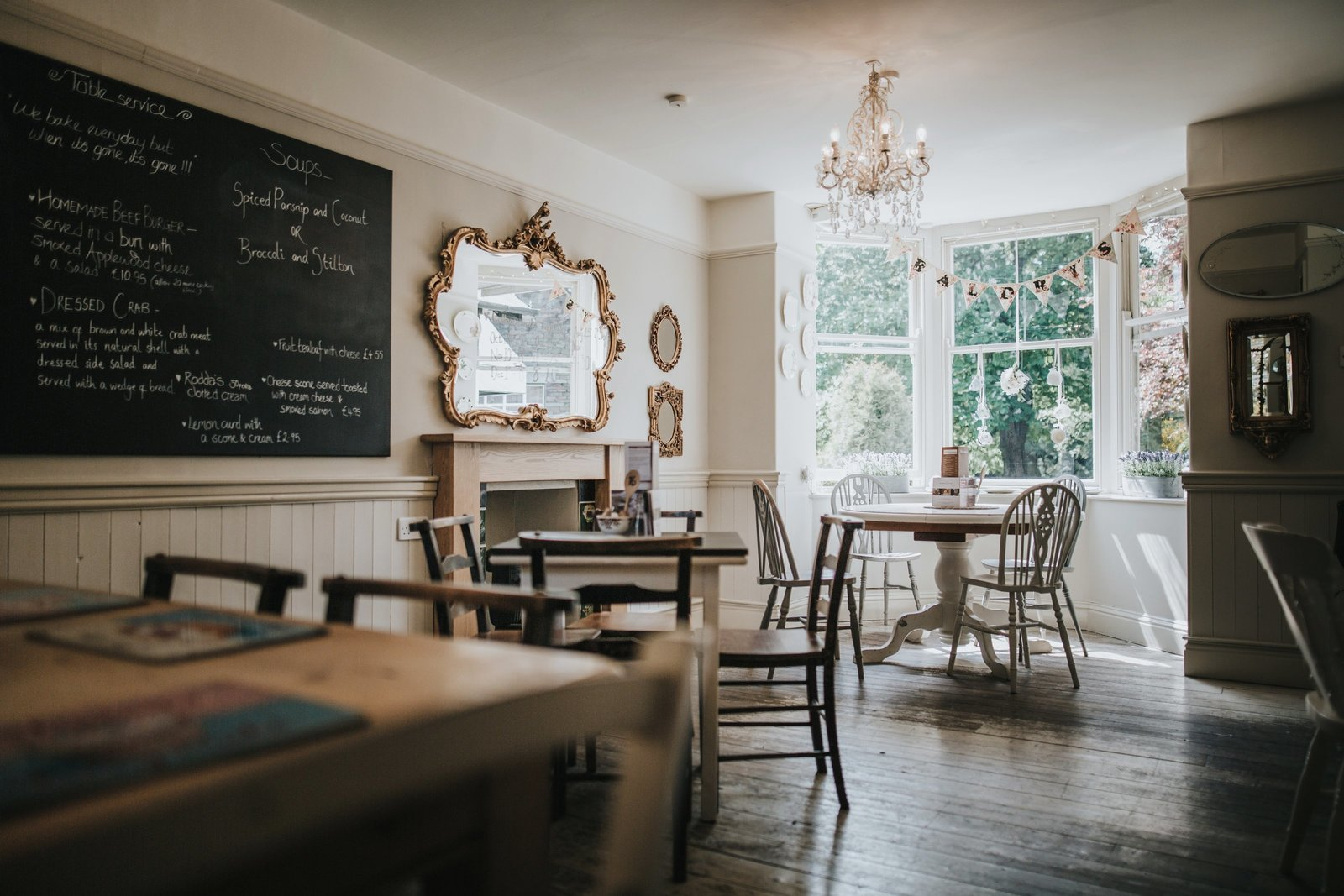 Inside the traditional english tearoom at Baldry's Grasmere in the Lake District