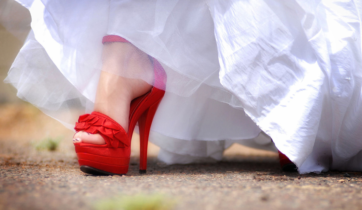 Wedding day Sexy shoes